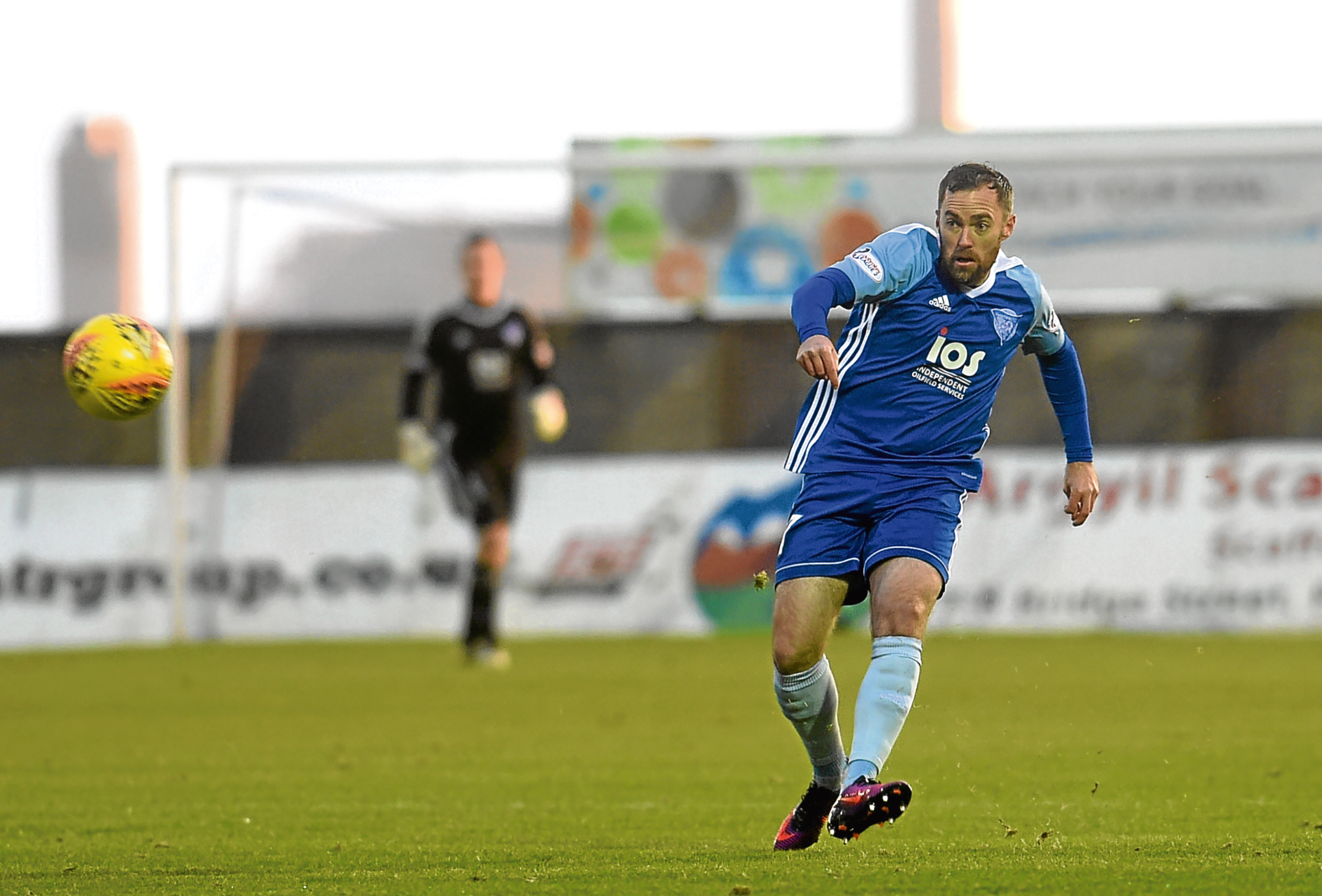 Jamie Stevenson in action for Peterhead