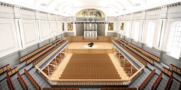 An artist's impression of how Aberdeen Music Hall could look after renovation work is completed.