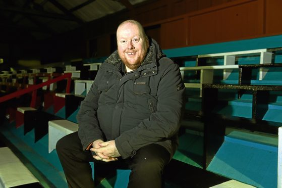 Fraserburgh chairman Finlay Noble at Bellslea Park. Picture by Darrell Benns