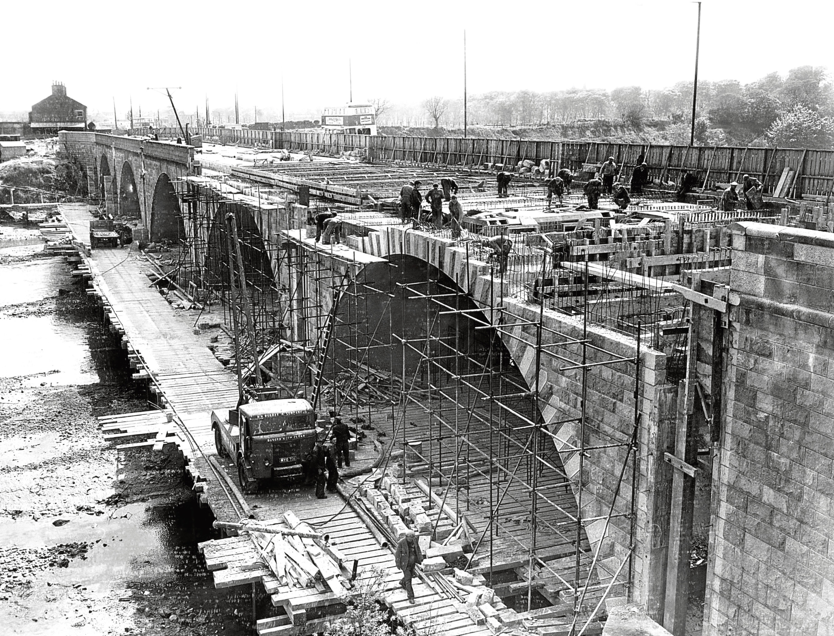1958: Widening work on the Bridge of Don well under way in 1958.