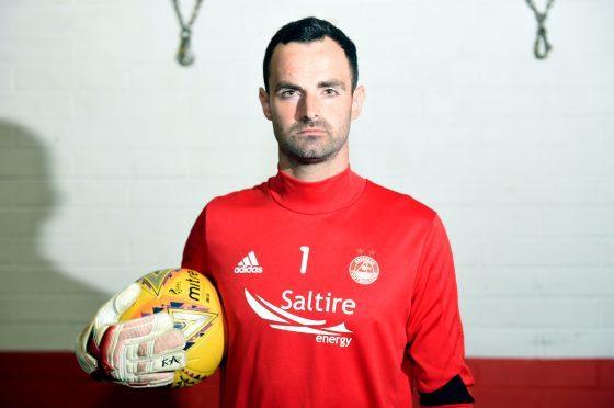 Aberdeen Football Club goalkeeper Joe Lewis. Picture by Darrell Benns