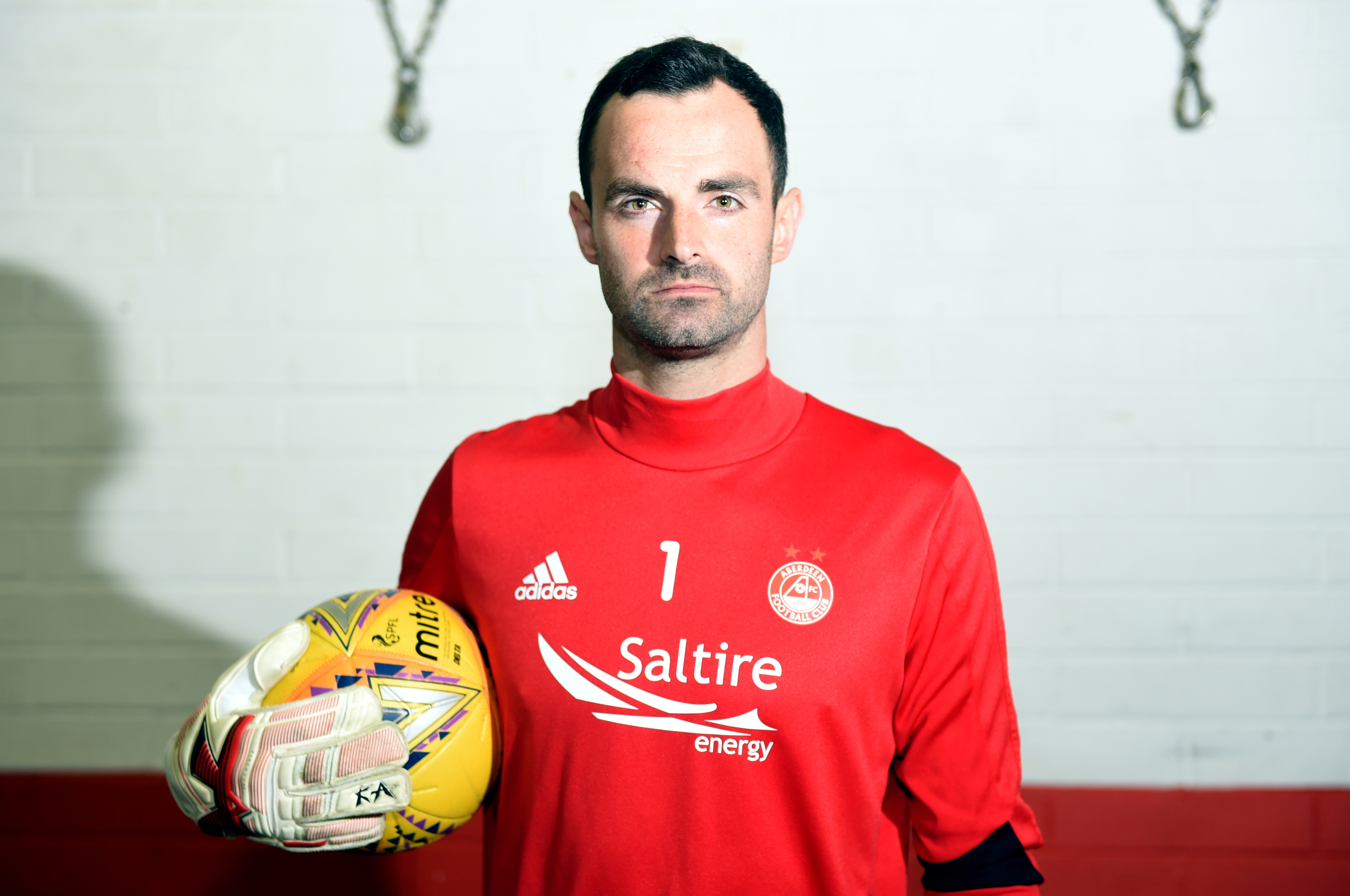 Aberdeen Football Club goalkeeper Joe Lewis. Picture by Darrell Benns