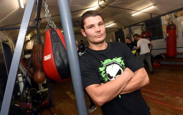 Marek Laskowski at Granite City Boxing Gym, Clifton Lane, Aberdeen. Picture by Heather Fowlie