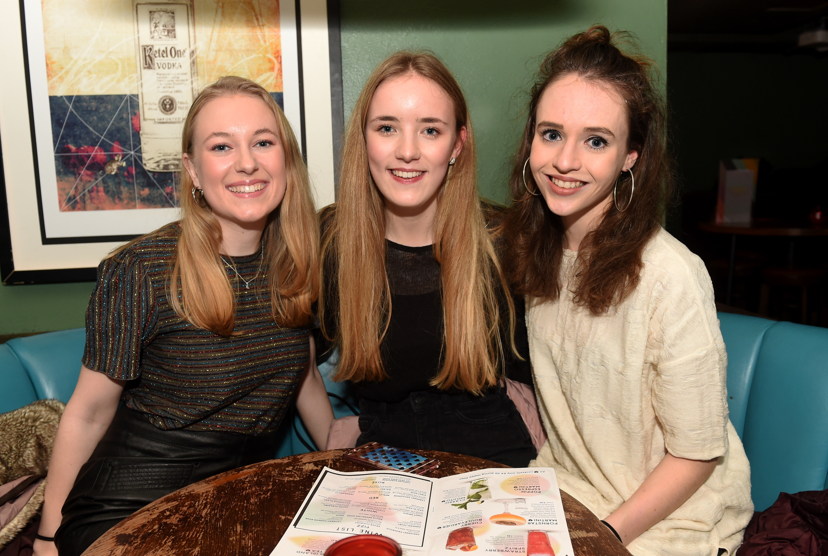 Emma Simper, Polly Christie and Ellen Stickle.
