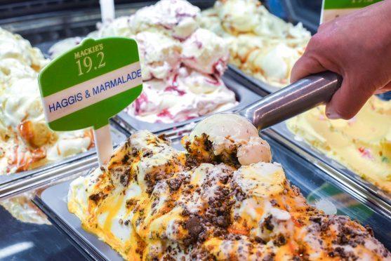 The ice cream contains one whole haggis per tub