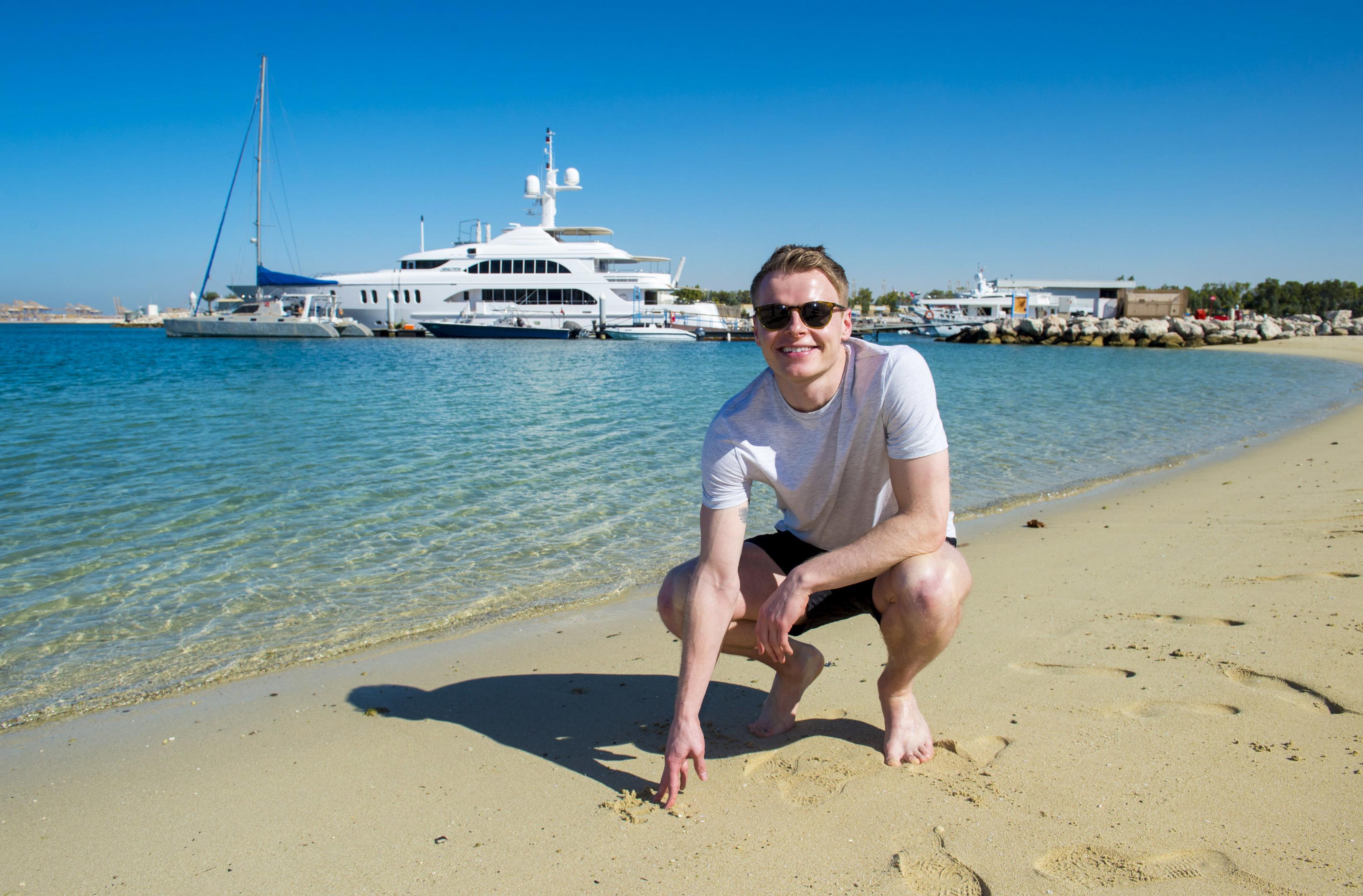 Aberdeen's Gary Mackay-Steven is pictured in Dubai.