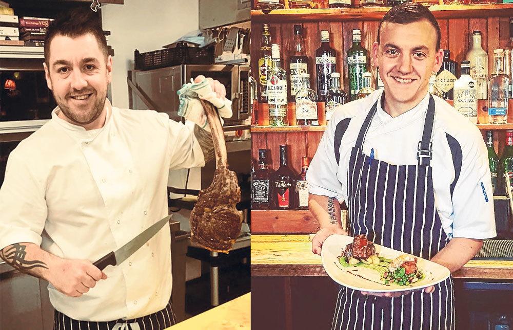 Chefs Ross Cochrane, left, and Graham Mitchell.