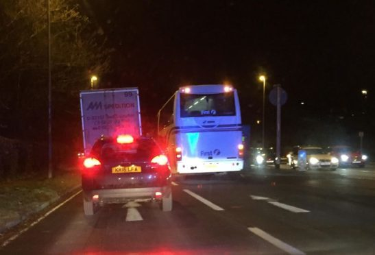 The incident occurred on the northbound carriage of the A90 Stonehaven Road.