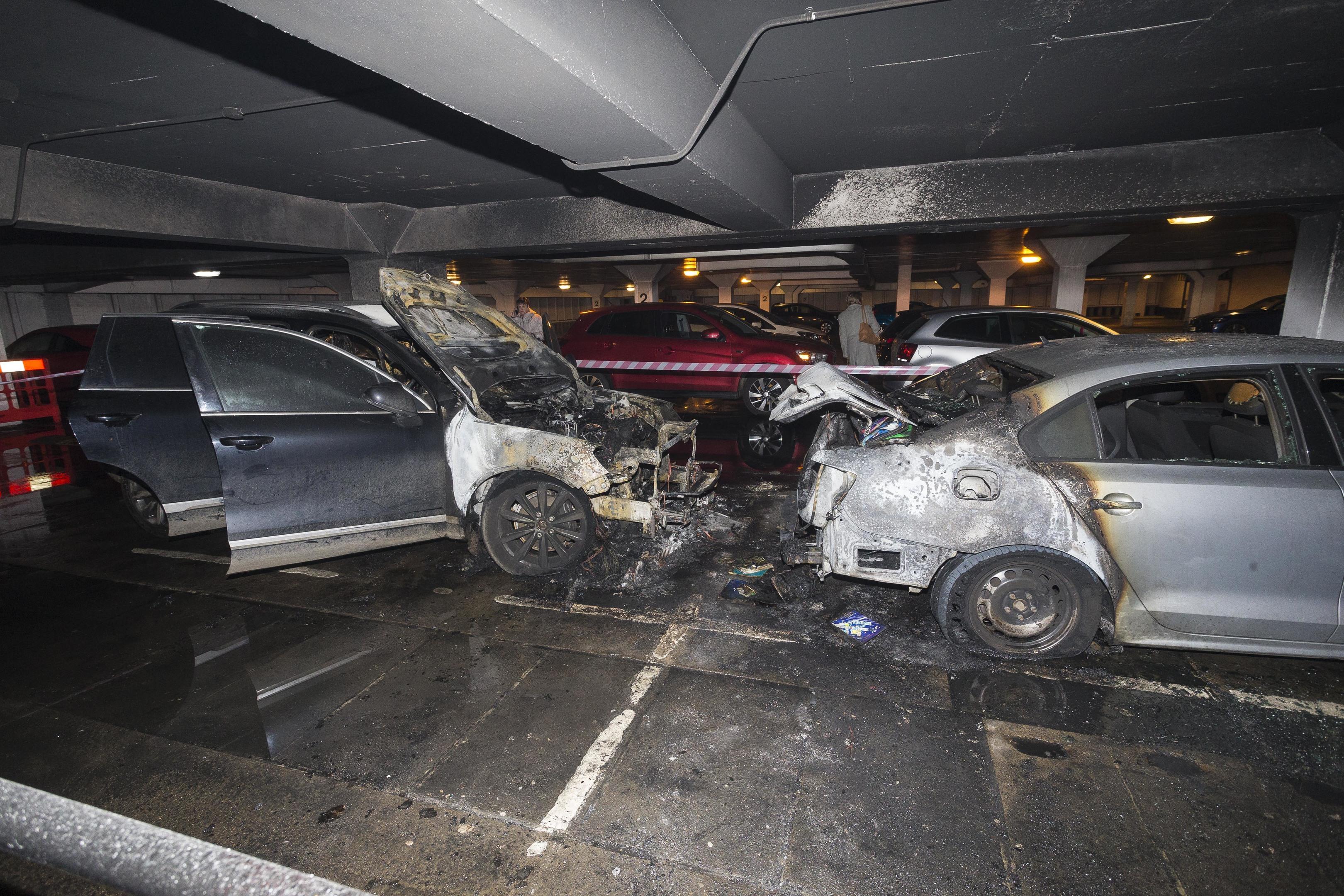 More than 40 firefighters battled the blaze at Denburn Car Park