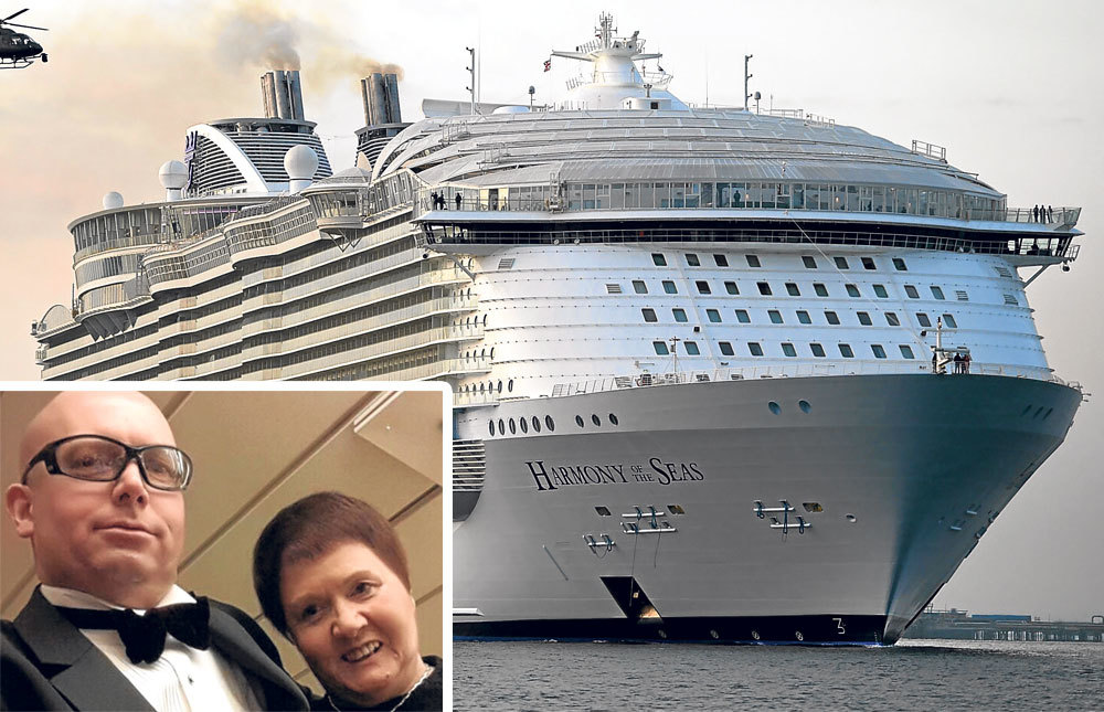 Derek and Linda Mutch were travelling aboard the MS Harmony of Seas.