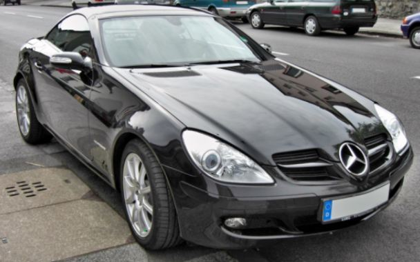 The black Mercedes SLK (V2 WME) was taken from Morningside Road last night