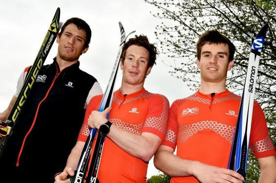 Ski-iers attending the Winter Olympics in South Korea are (from left) Andrew Young, Andrew Musgrave and Callum Smith.