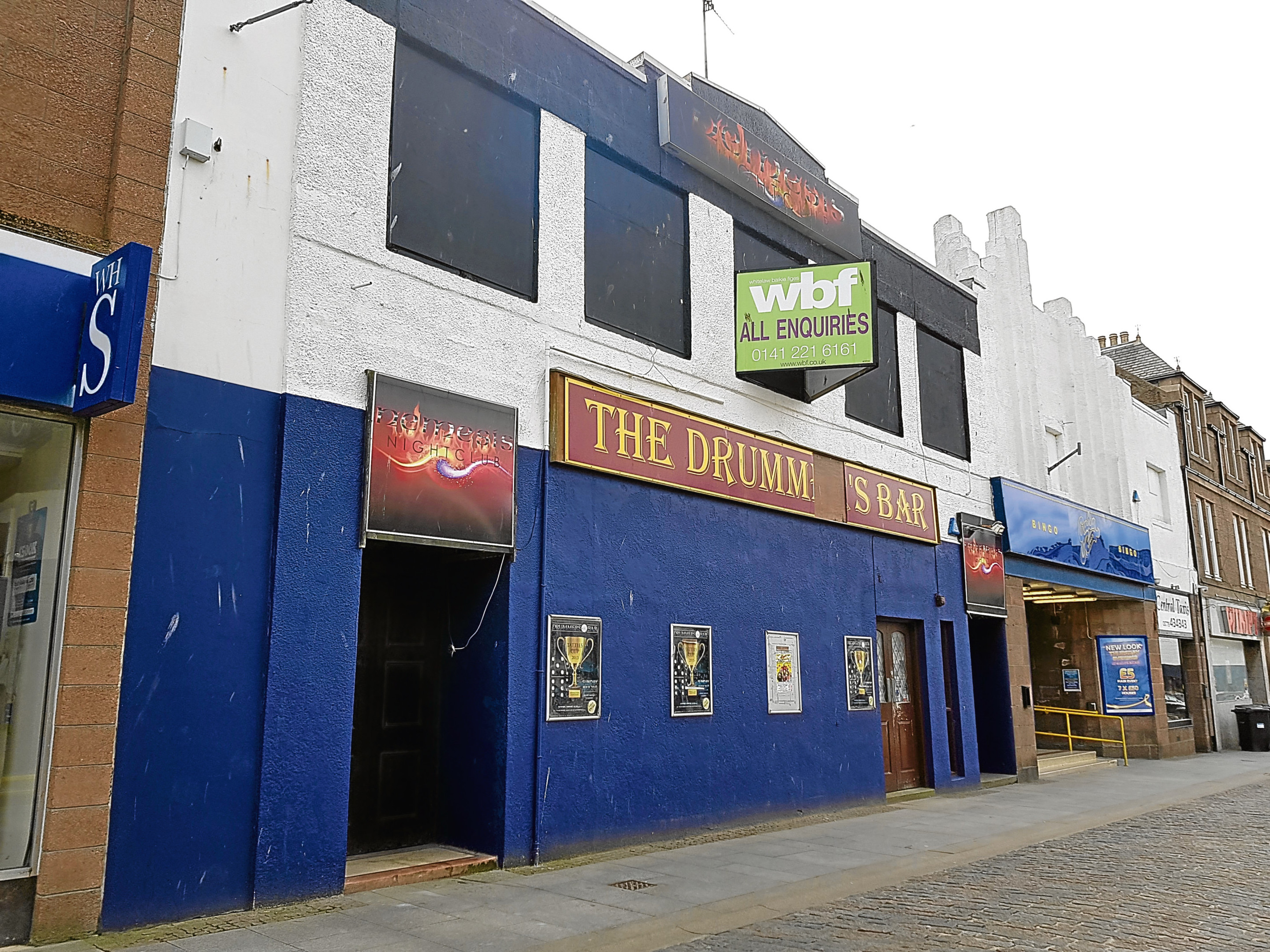 The former Drummers Bar and Nemesis nightclub