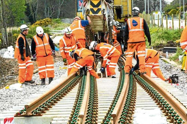 Rail improvement works under way to upgrade tracks between Aberdeen and Inverness.