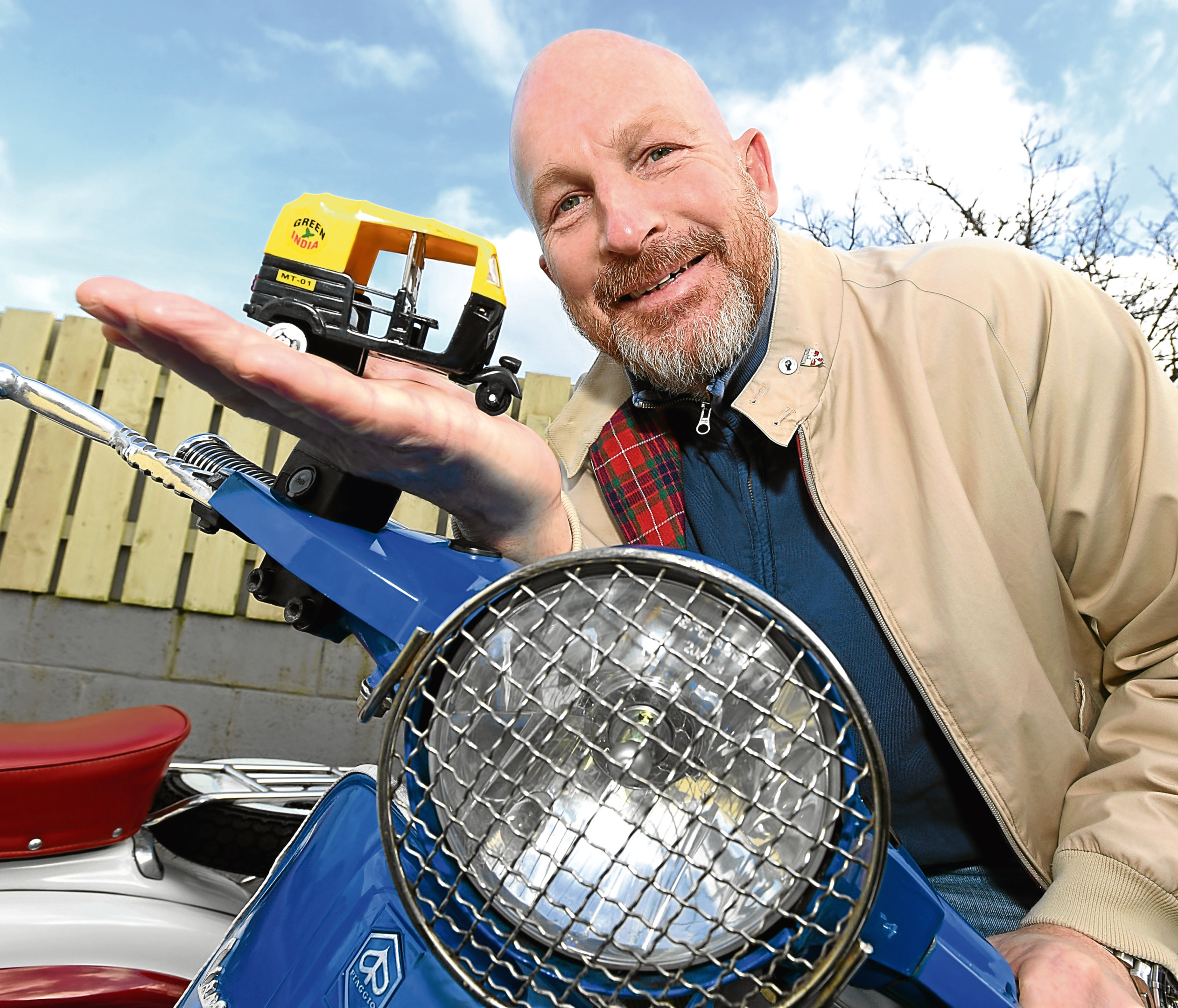 Robert Carmichael from Bridge of Don who has plans to start a tuk tuk business in the city.