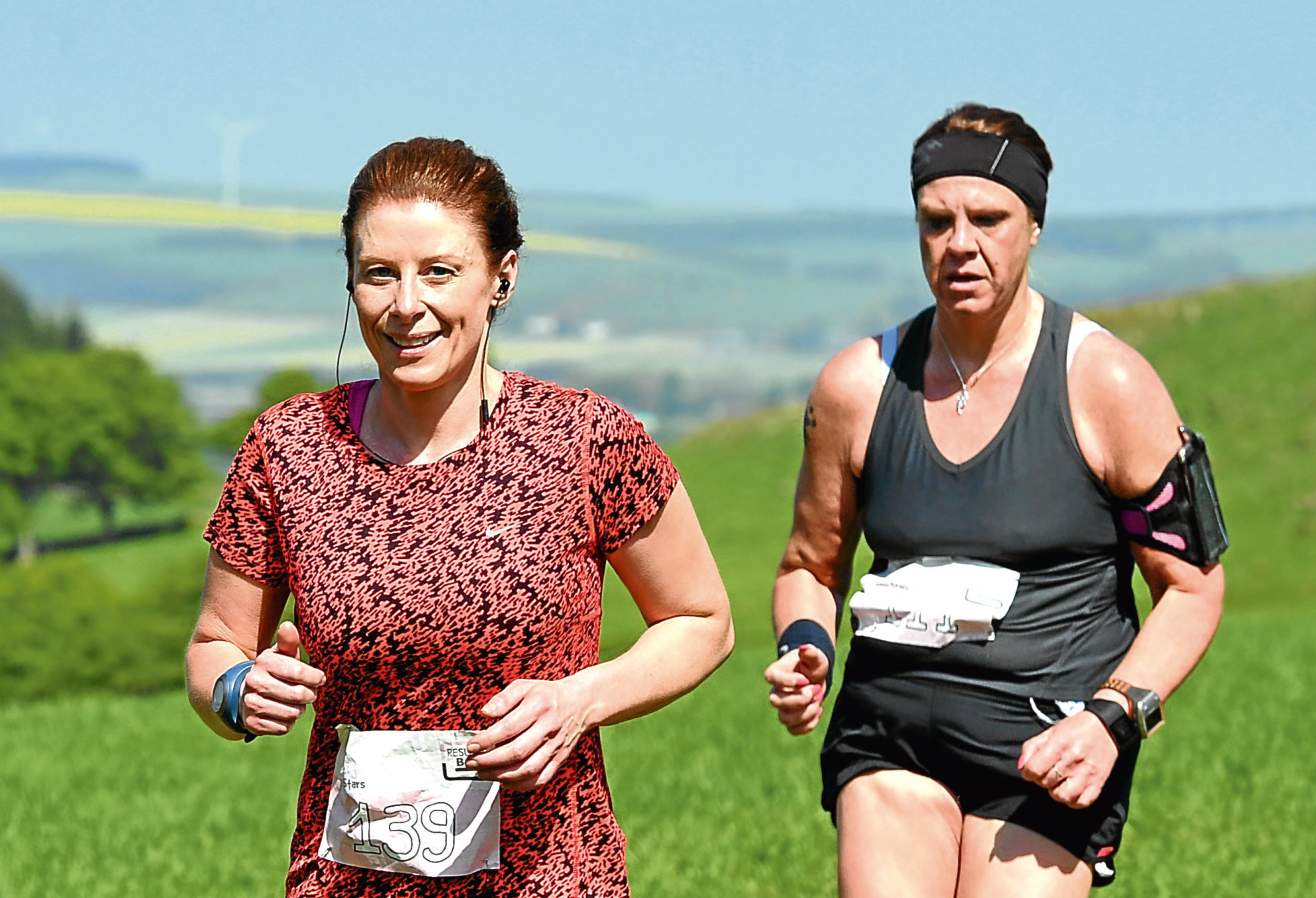 Runners out on the course during last year's Kayleigh's Wee Stars Barra 10k.