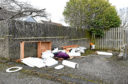 Dirty toilets have been dumped in the Aberdeen family's garden.