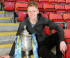 Gary Mackay-Steven with the Scottish Cup. The winger netted twice in the 4-2 defeat of Dundee United.