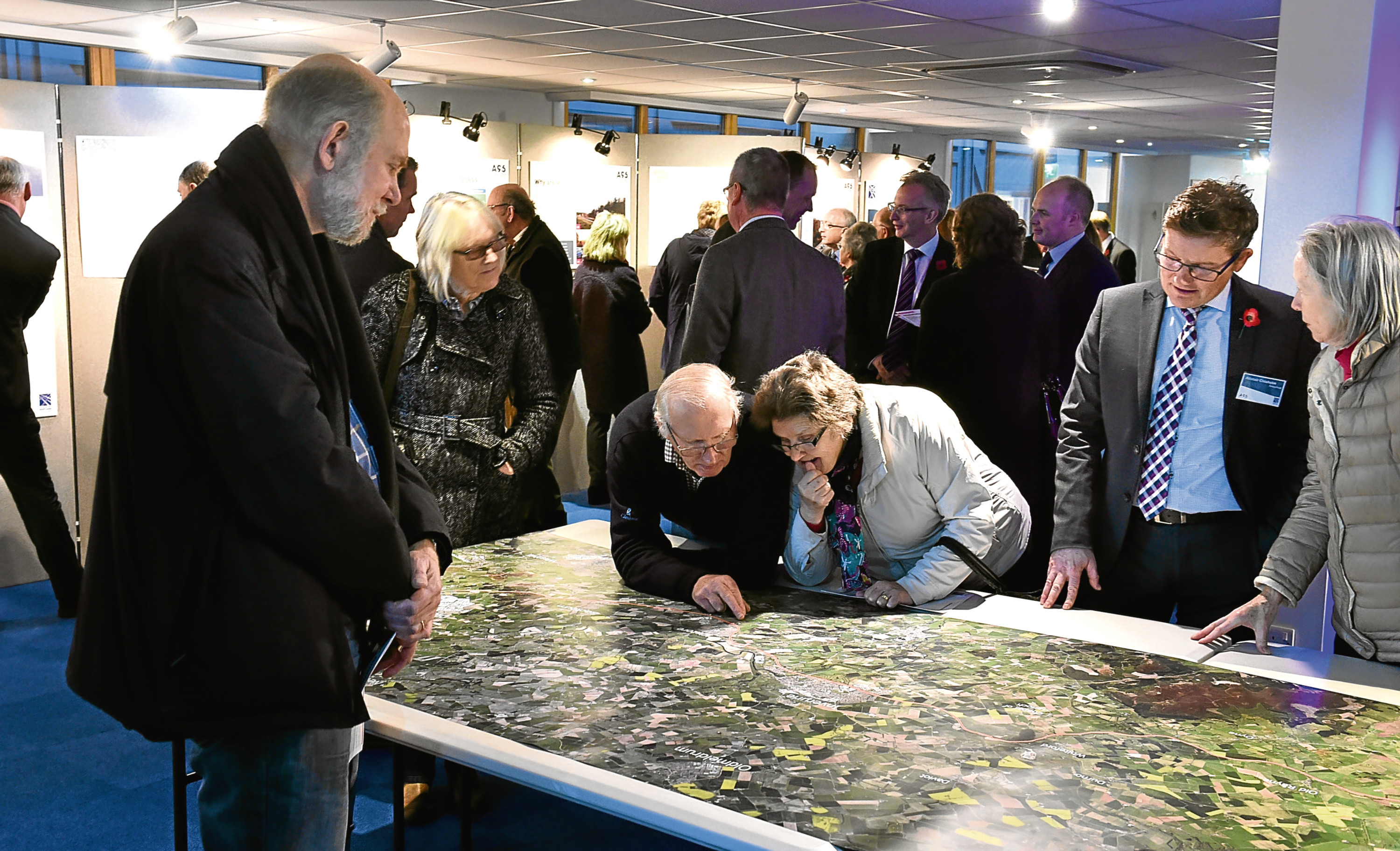 A public exhibition on the A96 dualling project was held in Inverurie.