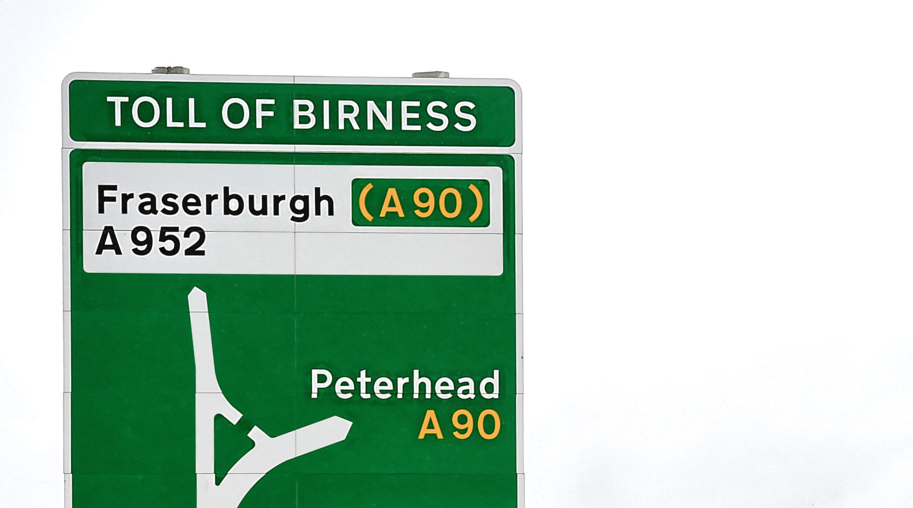 The A90 at the Toll of Birness junction.