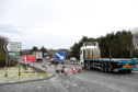 The A90 is down to one lane for roadworks