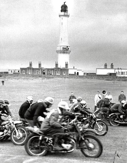 1967: Racers battle it out near Girdleness Lighthouse in Aberdeen.