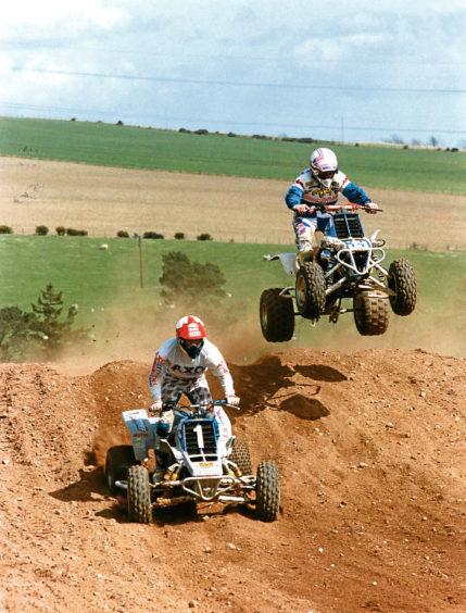 1992: Taking off is David Watt ahead of James Beattie at Stonehaven.