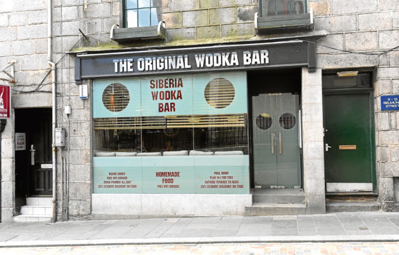 Siberia on Aberdeen's Belmont Street has been shut due to the localised lockdown