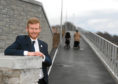 Councillor Ross Grant at the new path