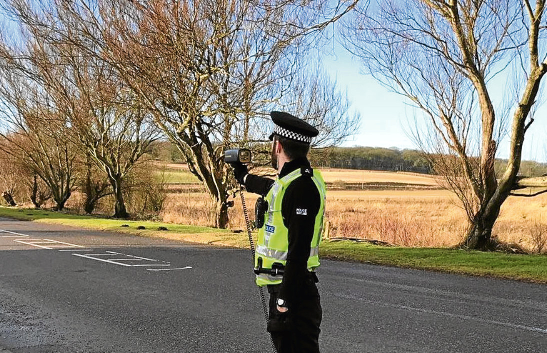 Officers carried out speed checks in Newburgh and Ellon yesterday.