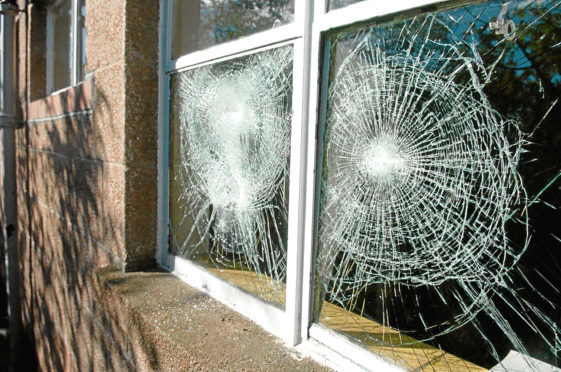 Schools in Aberdeen are a frequent target for vandals.