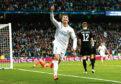 Cristiano Ronaldo celebrates scoring a goal.