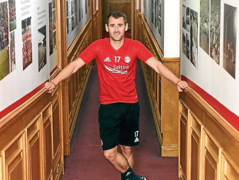 Niall McGinn pictured at Pittodrie. Picture by Kath Flannery