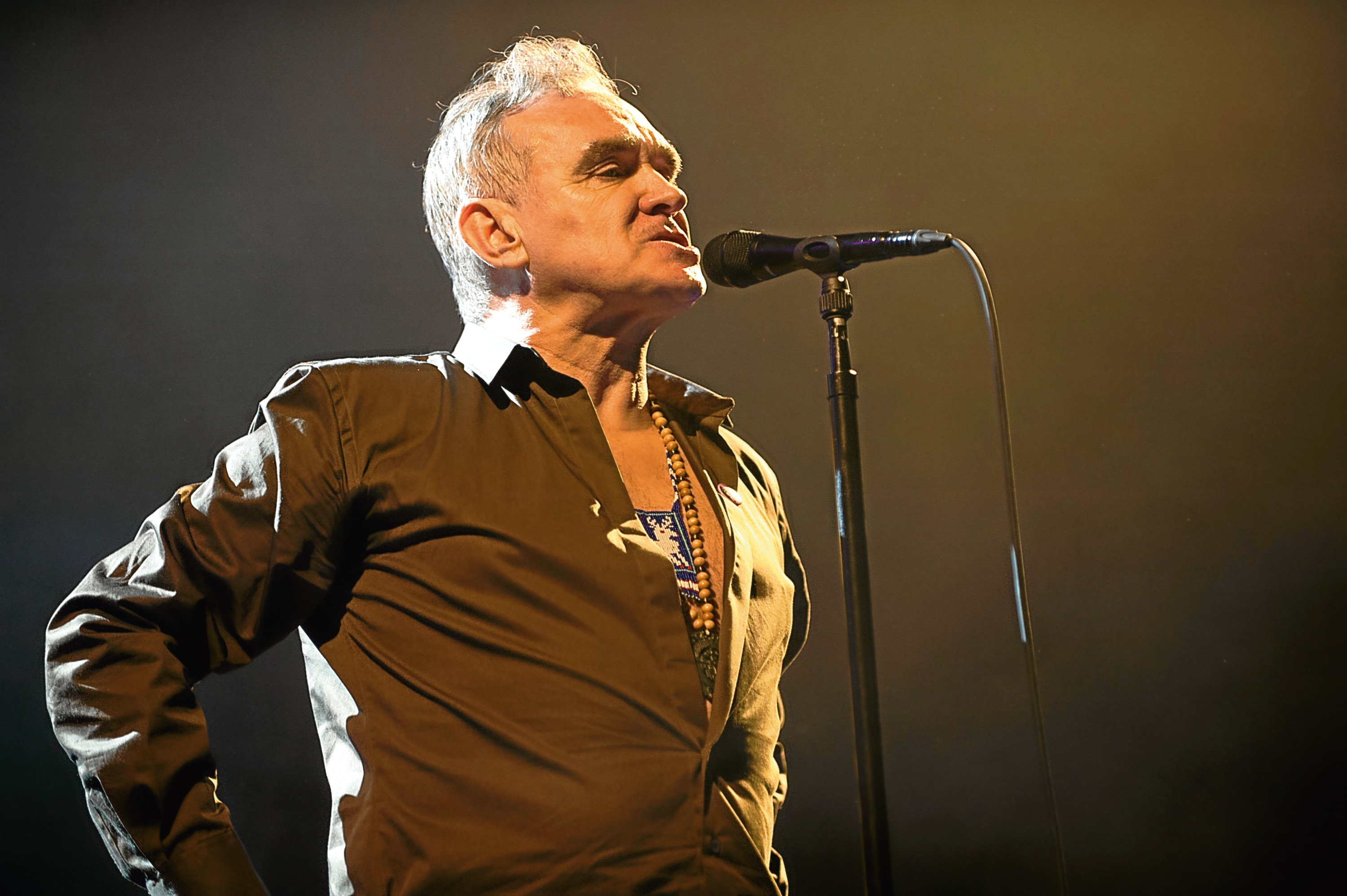 Morrissey at AECC picture by Andy Thorn