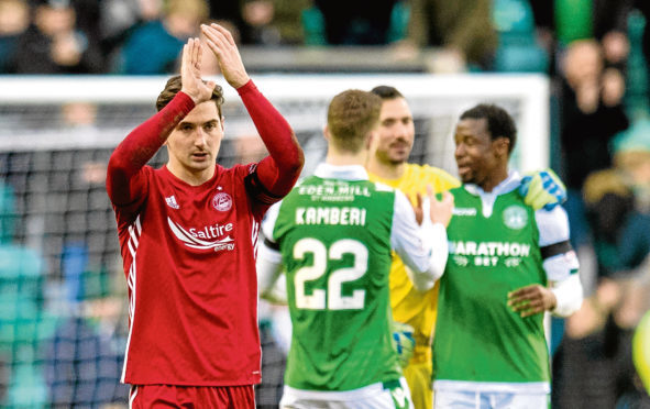 Aberdeen's Kenny McLean at full-time on Saturday.