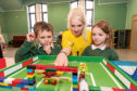 Pupils at Kincardine O'Neill primary school took part in the Bricks and Blocks workshop.