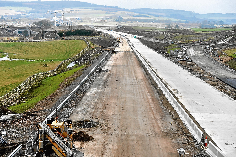 AWPR roadworks near Dyce.