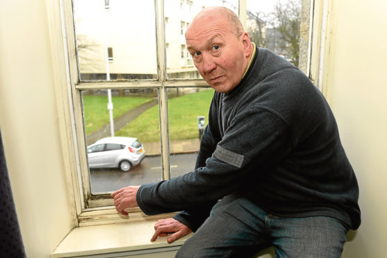 Freddie Cumming says his draughty window is contributing to his health problems.