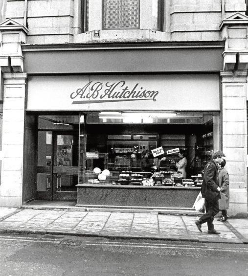 1986: AB Hutchison premises in George Street, Aberdeen.