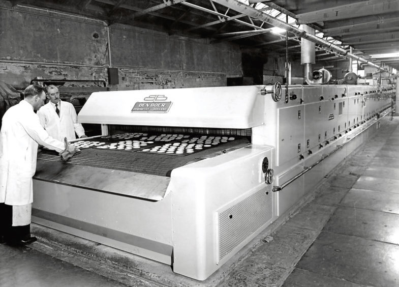 1959: the newest oven at the Northern Co-operative Society's Berryden Road Bakery.