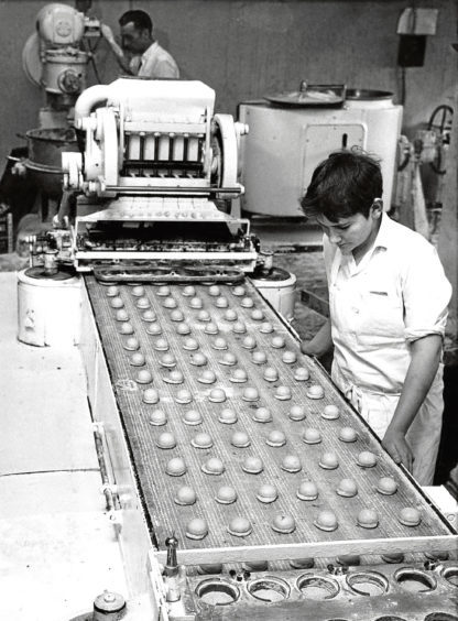 "1971: A Duncan's machine produced 6,000 ""softies"" an hour under the watchful eye of Thomas Harper."