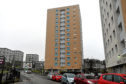 Locators of the high-rise blocks in Torry, Balnagask Circle. Pictured is Morven Court. 19/02/18 Picture by HEATHER FOWLIE