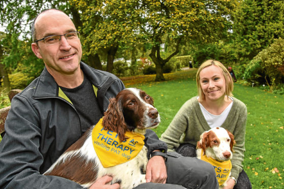 John and Emily Baird with their dogs Pablo and Ollie.
