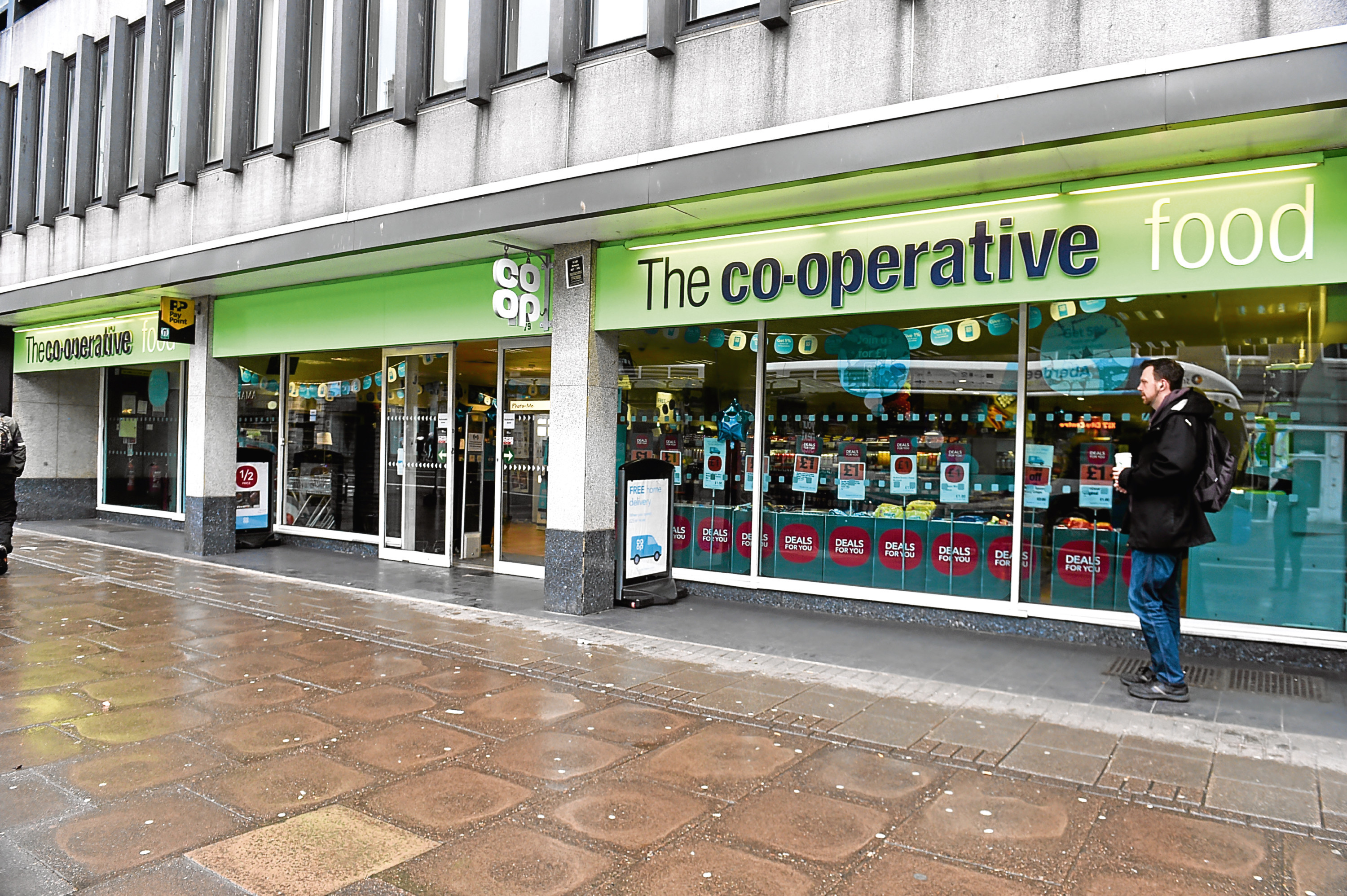 The incident happened outside the Co-op on Union Street.
