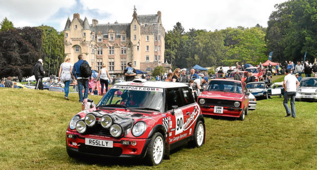 Royal Deeside Speed Festival held at Kincardine Castle.