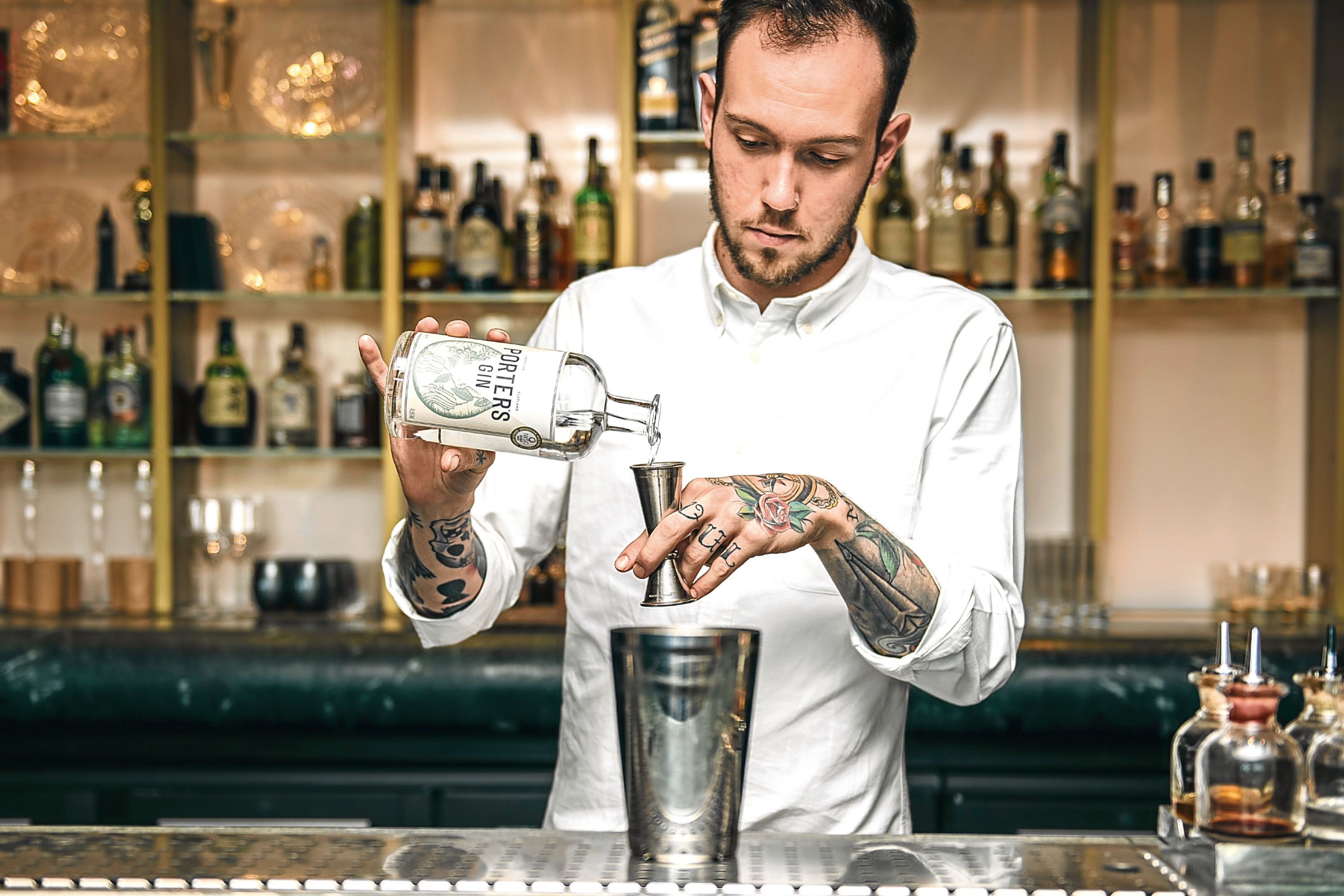 Alex Lawrence, who was named bartender of the year at the CLASS bar awards 2018
