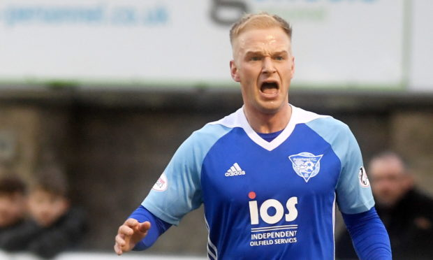 Jordon Brown had a five year spell with Peterhead between 2013 and 2018 and is now back at the club