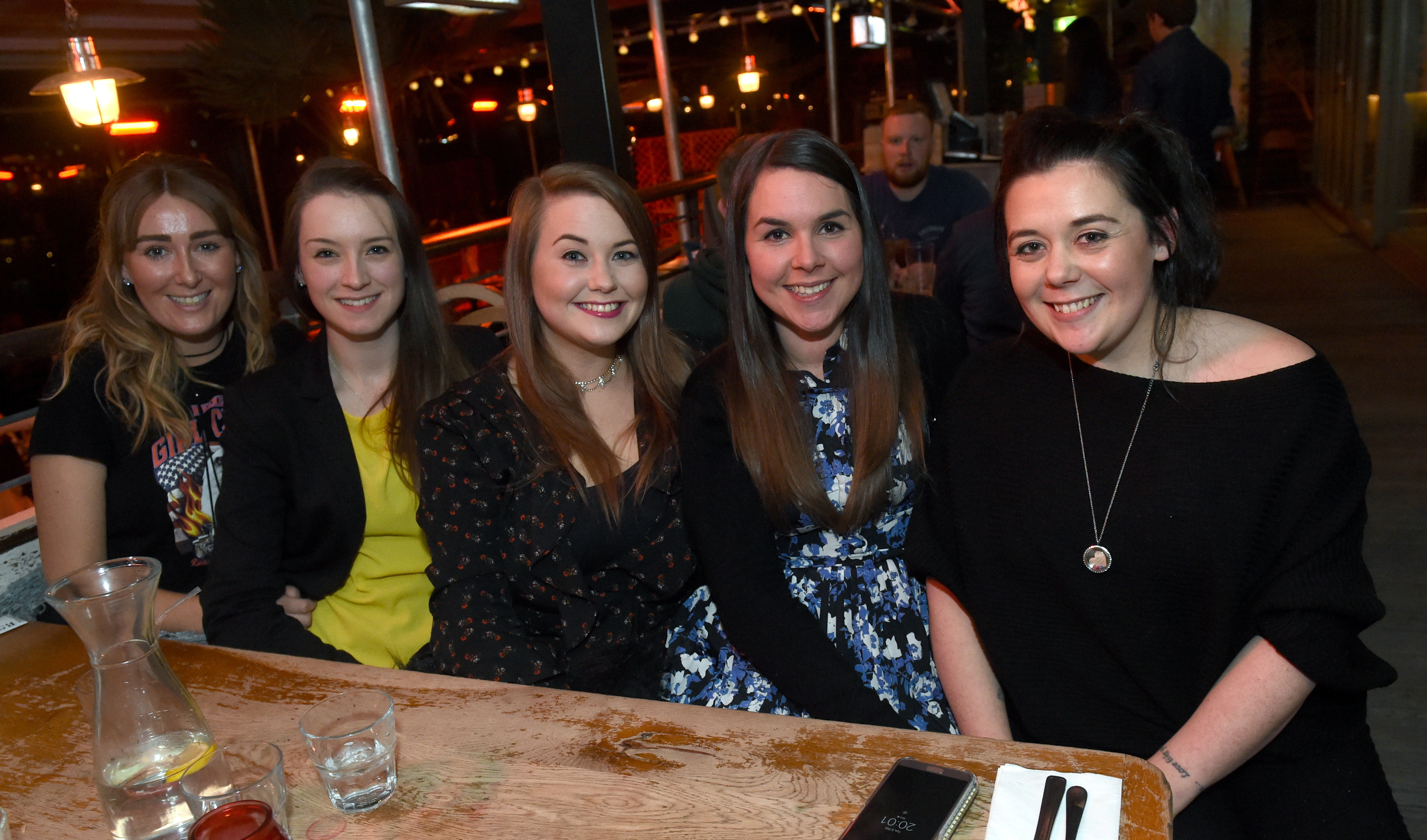 Revolution: Donna Elrick, Lauren Craig, Aimee Fyvie, Ashleigh Mackenzie and Kelly Robertson.