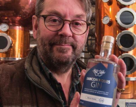 Simon Fairclough with the Bancon Gin.