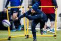 Scotland's Greig Laidlaw at training.
